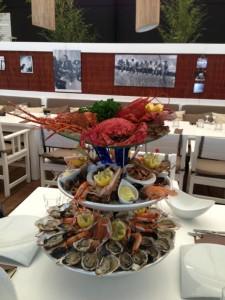 plateaux de fruits de mer plage du golf
